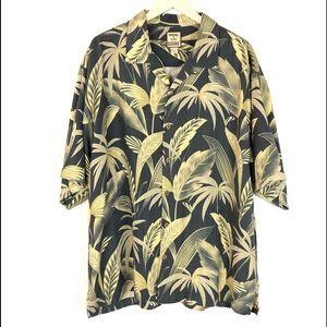 Tommy Bahama 100% Silk Aloha Button Up Shirt XL